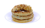 Stack Blueberry Waffles and Syrup