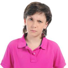 Portrait of emotionally boy.