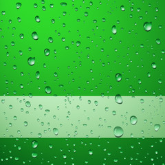 Green abstract background with drops - eps8