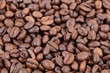 Closeup of coffee beans, selective focus