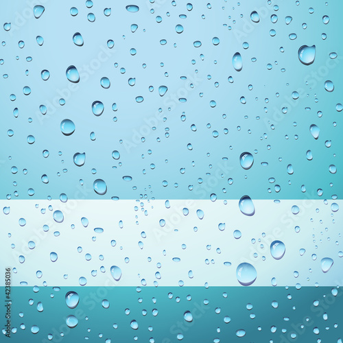 Blue abstract background with drops - eps8