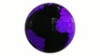 world globe balck and purple