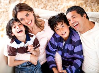 Beautiful Latin family