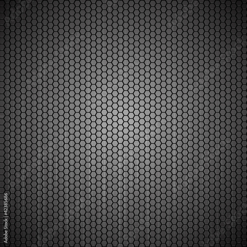 Metallic background with hexagon grid texture - eps8