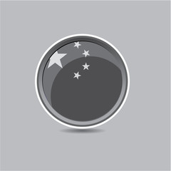 China flag button black and white