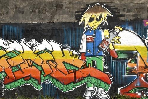 Fototapeten,malerei,graffiti,antilles,gsicht