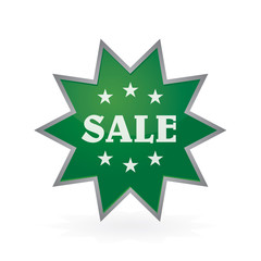 dark green button to sale shine star sticker