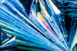 Benzoic acid crystals in polarized light