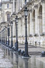 Historische Straßenlaternen in Paris, Frankreich