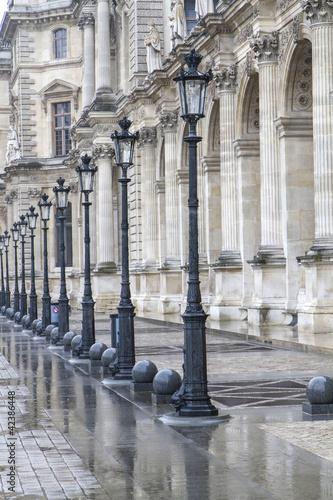 canvas print picture Historische Straßenlaternen in Paris, Frankreich