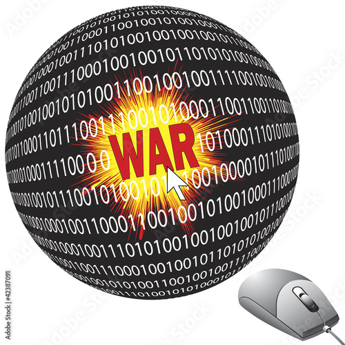 Cyberwar with computers, part of modern warfare