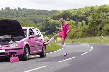 Barbie hat Autopanne