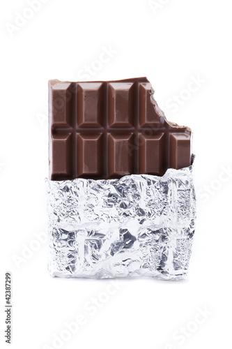 close up image of a chocolate bar
