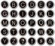 Vintage Typewriter Key Alphabet