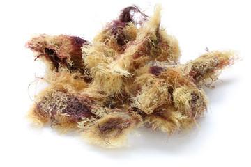 dried tengusa red algae,  a ingredient of gelidium jelly