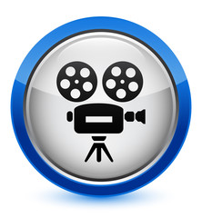 video camera icon on glossy button (blue border)