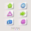 graphic design set of business icons.
