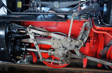 Dampflok Antrieb