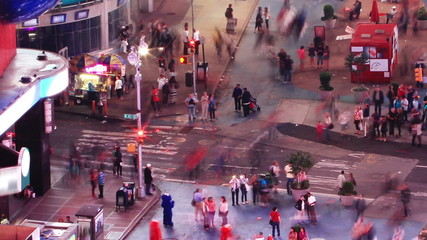 Crosswalk at evening. Time lapse and loopable. New York
