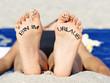 Leinwanddruck Bild - Bin im Urlaub