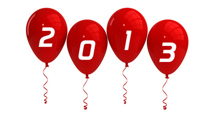 Year 2013 Red Balloons