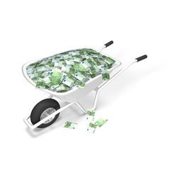 Euro Money Wheelbarrow