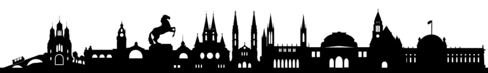 Skyline Wiesbaden mit Wahrzeichen