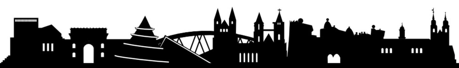 Skyline Magdeburg mit Wahrzeichen