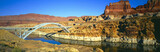 Hite Overlook and Cataract Canyon Bridge over Colorado River