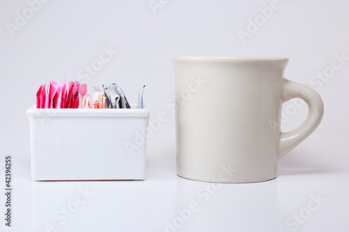 Coffee Cup and Sweeteners