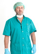 Surgeon in operating clothes