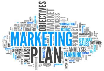 "Word Cloud ""Marketing Plan"""