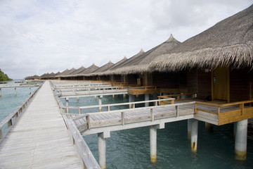 Bungalows in maldives.