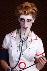Bizarre Horror Themed Zombie Nurse