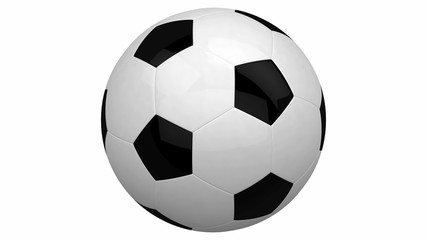 soccer ball isolated on white background, high def