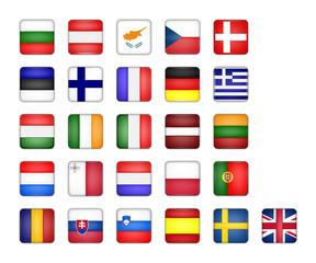 set of EU flag