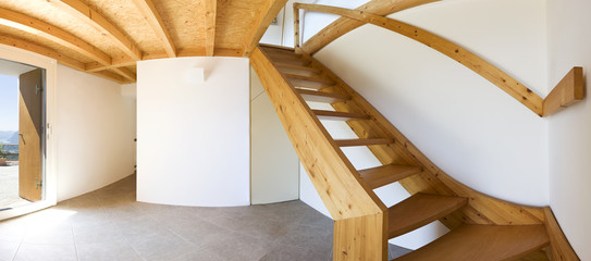Entrance modern chalet,  interior