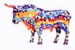Leinwandbild Motiv Bull in Gaudi style - spanish souvenir