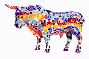 Bull in Gaudi style - spanish souvenir