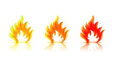 Flamme en 3D