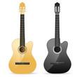 realistic acoustic guitar