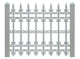 block metal fence