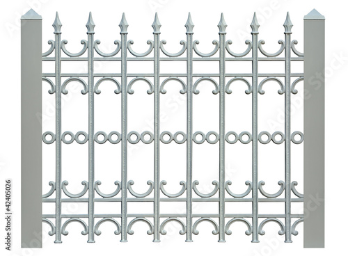 block metal fence