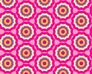 Seamless pink pattern background with stylized umbrella