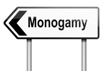 Monogamy concept.