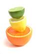 Arrangement mit Zitrusfrüchten, citrus fruits