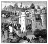 Attacking a Castle (Calais) - 14th century