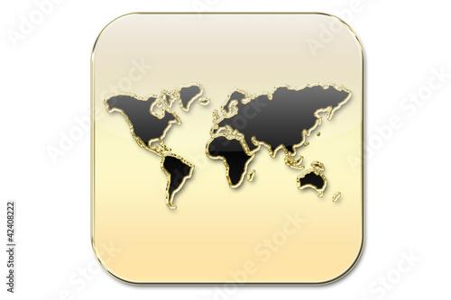 Botñon mapa mundi oro