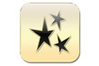 botón estrellas oro