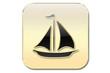 Botón velero oro